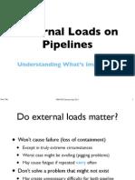 External Load on Pipeline
