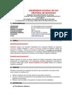 Syllabus EC346 Estadística Para Economistas II_Setiembre 2014