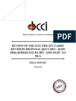 6 Review of BPC DGPC Electricity Tariff Proposals