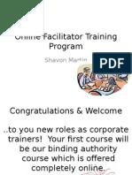 online facilitator training program
