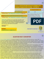 Quantum Heat Converter and Quantum Injection System Patents 2010