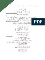 Transformada Inversa de Un Ln f(s)