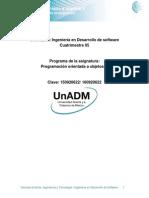 Programación Orientada a Objetos 3nformacio n General de La Asignatura DPO3