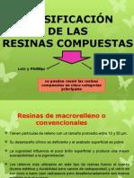 clasificación de resinas