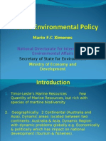 Mario Ximenes' 2009 Presentation on Marine Environmental Policy