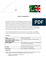 B1 Deputy Programme Manager Advert April2015 (1)