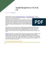 Belajar Cara Install Mysql Server 5