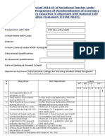 Appraisal Form Format for VTP