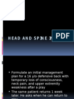head and spine injury