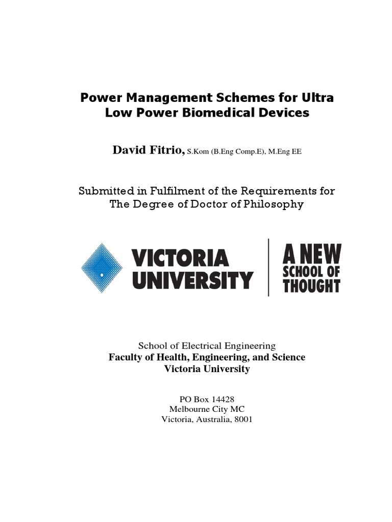 David Fitrio Phd Thesis Power Management Schemes Mosfet Cmos Voltage Supply Vddl And Output Logic Signal Vddh