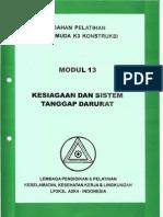 Modul 13. Kesiagaan Dan Sistem Tanggap Darurat