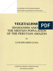 Vegetalismo - Shamanism Among the Mestizo Population of the Peruvian Amazon