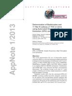 Determination of Barbiturates and Tetra Hydro Canabinol