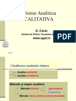 Chimie Analitica 1 2012