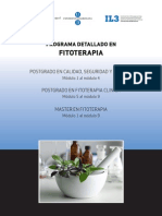 Programa Detallado Fitoterapia