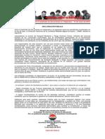 Declaración Pública - JRME - 14 de Mayo de 2015