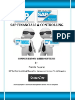 Common Errors in Sap Fico With Solutions