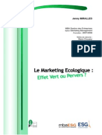 mémoire marketing ecologique