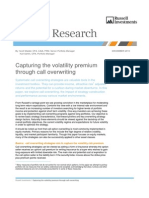 Options - Capturing the Volatility Premium Through Call Overwriting