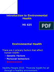 Intro to Environmental Health