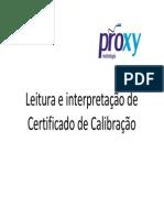 Leitura e Interpretação de Certificado de Calibração