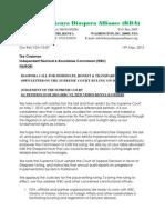 KDA Open Letter to IEBC on Supreme Court Ruling on Diaspora Voting