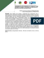 ALMEIDA, A.S. DISPARIDADES NOS RENDIM PROVENIENTES DO TRABALHO - Uma Análise Sobre o Segmento Formal e Informal Do Mercado de Trabalho Do Estado Da Bahia (2012)