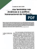 As Teorias Feministas Nas Américas e a Política Transnacional Da Traducao