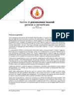 bozza regolamento Norme Prevenzione Incendi Generali e Semplificate