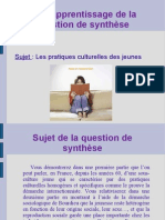 TD d'Apprentissage de La Question de Synthèse