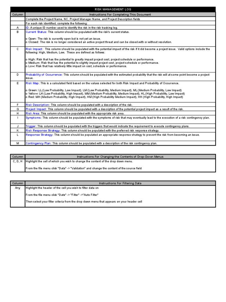Risk Description Template Images - Template Design Ideas