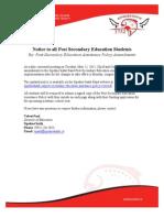 Notice PSE Policy Amendments May 2015