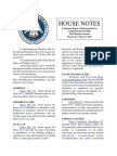 2015 House Notes Week 5