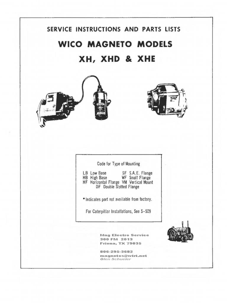 Wico Magneto Repair