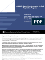 QUELCE - Quantifying Uncertainty for DoD Acquisition Programs 2014
