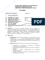 Syllabus Universidad Nacional Mayor de San Marcos