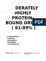 Moderately HighLY Protein Bound Drugs