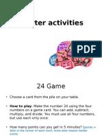 Starter Activities Session Ioe