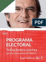 Programa Autonómico de PSOE Madrid 2015