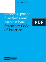 Equalities Act - Services & Associations Code of Practice