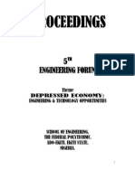 Proceedings 5th Engineering Forum, The Federal Polytechnic, ekiti Nigeria