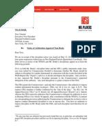 Brady Appeal Letter