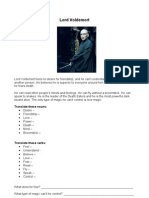 Lord Voldemort - simple text comprehension