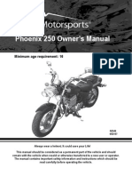 41 OWNERS MANUAL - PX250 Motorcycle Owners Manual VIN Prefix LE8