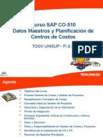 SAP-CO-510 Datos Maestros y Planif CentrosCosto