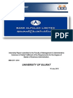 Bank Alfalah Limited Internship Report