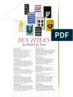 10 Titles To Pick Up Now - O Magazine, October 2013