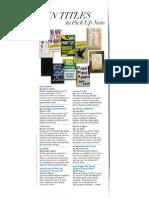 10 Titles To Pick Up Now - O Magazine, November 2013