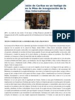 Francisco- Homilía a Confederación Caritas Internationalis Quien Vive La Misión de Caritas Es Un Testigo de Cristo 12-5-15