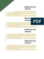 Definición de Manual